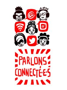 Logo : Parlons Jeunes, Parlons Connecté·e·s!