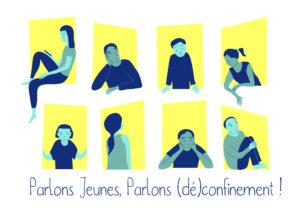 Logo : Parlons Jeunes, Parlons (dé)confinement !